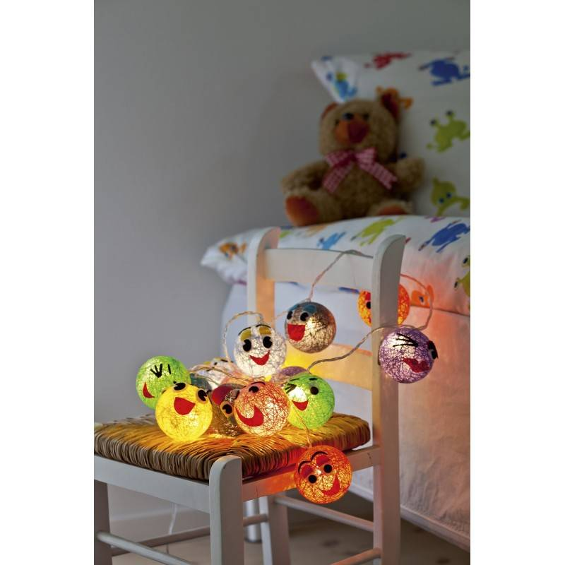 guirlande lumineuse funny faces. Black Bedroom Furniture Sets. Home Design Ideas